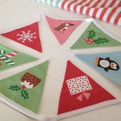christmas bunting for kids by halfpinthome | notonthehighstreet.com
