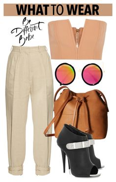 """""""OOTD"""" by gigi-lucid ❤ liked on Polyvore featuring LULUS, Hillier Bartley, Balmain, ECCO and Giuseppe Zanotti"""