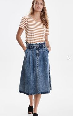 This lovely skirt is available in store. Denim Skirt, Stylists, Fall Winter, Store, Skirts, Inspiration, Beautiful, Fashion, Moda