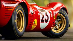 Winner of the 1967 24 Hours of Daytona Ferrari Racing, Ferrari Car, Sports Car Racing, Sport Cars, Auto Racing, Classic Sports Cars, Classic Cars, 24 Hours Of Daytona, Old Race Cars