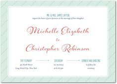 "Modern wedding invite. Back of invite. 5 x 7"" flat card."