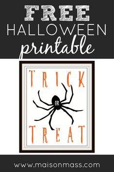 Free, fun Halloween pin available at Maison Mass! Printable Art, Printables, Halloween Fun, Gift Tags, Print Templates, Gift Ideas