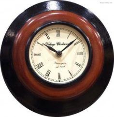 Wooden Dark Brown Wall Clock