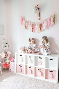 Pink and White Striped Girls Playroom with Gold Accents Big Girl Rooms accents Girls Gold pink Playroom striped White White Girls Rooms, Pink Bedroom For Girls, Pink Room, Little Girl Rooms, Little Girls Playroom, Pink Girl Rooms, Playroom Decor, Kids Decor, Playroom Design