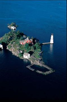 Lighthouse on Rock Island, Thousand islands, NY
