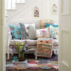 lots of pretty pillows