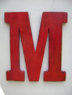 "Shabby chic wedding decor "" M"", Hanging Wood Letters"