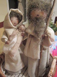 Nativity scene made of plastic bottles