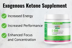 D-BHB is the ketone your body produces from fat to use as energy. Since your body naturally produces D-BHB, when taking it in supplement form, the bioavailability when compared to the other exogenous ketone supplements on the market is far greater. This means that the D-BHB will get absorbed into your system faster. Ketone Supplement, Ketone Bodies, Keto Flu, Natural Energy, High Energy, How To Increase Energy, Amino Acids, Stevia, Just Do It
