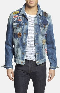 True Religion Brand Jeans 'Jimmy' Patchwork Denim Jacket available at #Nordstrom