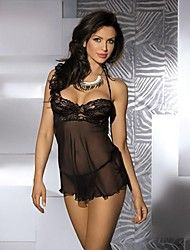 Women's Sexy Halter Neck Lace Bra Mesh Low Back Babydoll And Matching Thong Sleepwear Save up to 80% Off at Light in the Box with Coupon and Promo Codes.