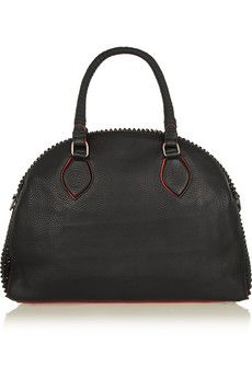 Christian Louboutin Panettone large spiked textured-leather tote | NET-A-PORTER