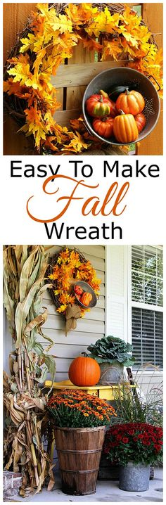 This easy to make fall wreath tutorial is a inexpensive DIY project you can whip up this weekend. You probably have half the supplies in your house already!