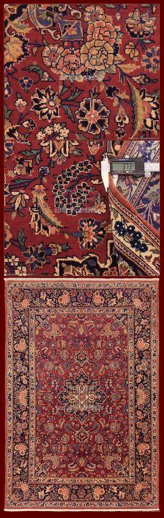 ANTIQUE KASHAN RUG IRAN - 205 X 139 CM - 6.73 X 4.56 FT - COD. 141406560770