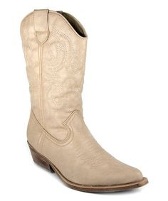 Take a look at this Butter Balour Cowboy Boot by Sugar on #zulily today!