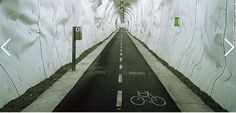 Abandoned Spanish tunnel in the mountains  re-purposed for San Sebastian to Bilbao cycling route!