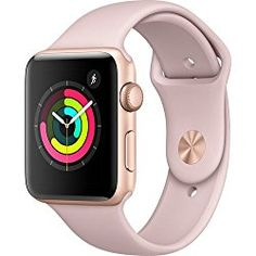 Apple Watch Reviews – Apple Watch Series 3 Review - Apple watch series 3 Aluminum case Sport 42mm GPS + Cellular GSM unlocked (Gold Al case w/ Pink sand sport band)