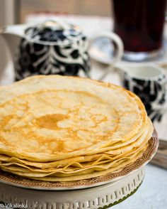 """Russian Crepes """"Blini"""" ~vikalinka.files.wordpress.com  Thank you for these!  Enjoyed them all the years/trips it took us to adopt our children from Russia!"""