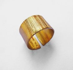 Items similar to Adjustable wide sterling silver band -Unisex wide band- yellow gold plated sterling silver -wedding / engagement ring - hipster jewerly on Etsy Gothic Wedding Rings, Gold Plated Rings, Color Ring, Engraved Rings, Gold Style, Engagement Rings, Wedding Engagement, Rose Gold Plates, Different Colors