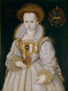 Chrysogona Baker, Lady Dacre, as a Child of Six by British (English) School, 1579