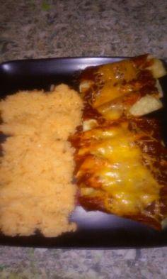 What i made for dinner red rice & enchiladas