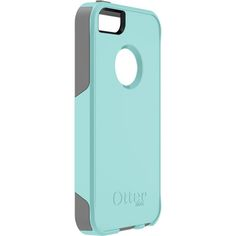 Custom iPhone 5 case- OtterBox. Gunmetal grey and aqua