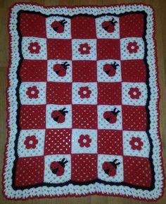 Crochet Ladybug Baby Afghan
