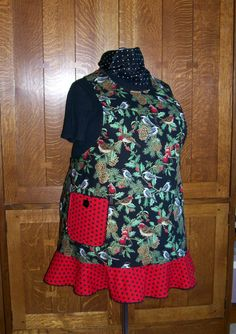 Hey, I found this really awesome Etsy listing at https://www.etsy.com/listing/167628166/plus-size-womans-winter-chickadee-apron