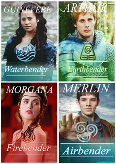 Merlin and Avatar:The Last Airbender crossover. Merlin - Elements By Tizzlesticks on Deviantart