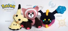 Pattern Free Amigurumi Pokémon Stufful, Mimikyu and Cosmog. Come to know us for our facebook and website. Patrón gratis Amigurumi Pokémon Stufful, Mimikyu and Cosmog. Pasa a conocernos por nuestro facebook y sitio web. www.tarturumies.com https://www.facebook.com/Tarturumies