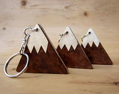 Magnet Mountains. Handmade wood fridge magnets. Set of by AMOKORI