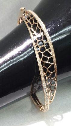 Rose gold and diamond bracelet at Marshall Jewelry