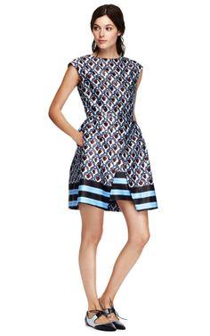 A girl can dream... Printed Satin A-Line Dress by Suno - Moda Operandi