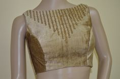 Subtle Golden color velvet  blouse by Sravams on Etsy, $78.00