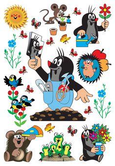 Samolepky do dětského pokoje Krteček a zrcadlo, velikost archu 65 x 85 cm. Velmi kvalitní samolepky na zeď a všechny hladké plochy. Samolepící dekorativní prvky jsou určeny k okamžité dekoraci zdi, stropů, nábytku a dalších povrchů a předmětů ve Vašem bytě. Facebook Sticker Store, Vintage Travel, Vintage Art, Bunny And Bear, City Maps, Cute Pattern, Old Movies, Fairy Tales, Nostalgia