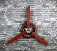 Décoration murale Horloge Applique murale Horloge murale Jardin Décoration intérieure Décoration en métal Décoration intérieure Décoration industrielle Style retro industriel ( Couleur : Rouge , style : Industrial Retro ): Amazon.fr: Cuisine & Maison