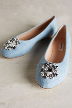 Monica Garcia Jeans Ballet Flats #anthrofave