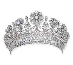 Antique Diamond Tiara Mounted In Silver And Gold Made By Kochert c.1870 1870 Christie's