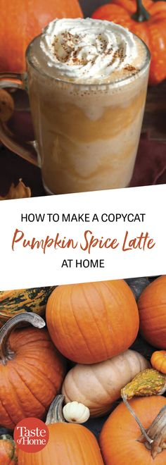 Here's How to Make a Copycat Pumpkin Spice Latte Learn how to make the coffee-shop favorite—no fancy barista equipment required. Latte Macchiato, Chai Latte, Starbucks Pumpkin Spice Latte, Homemade Pumpkin Spice Latte, Pumpkin Spiced Latte Recipe, Pumpkin Spice Coffee, Spiced Coffee, Pumpkin Recipes, Pumpkin Drinks