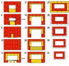 Мангал из кирпича своими руками: чертежи, фото, как сделать самый простой проект, кладка пошагово Floor Plans, Floor Plan Drawing, House Floor Plans