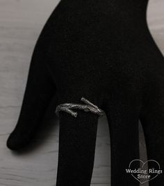 Tree silver band Branch small wedding ring Tree bark wedding