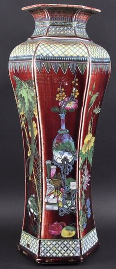 Lot: A RARE CHINESE QING DYNASTY HEXAGONAL FLAMBE GLAZED, Lot Number: 0063, Starting Bid: £240, Auctioneer: John Nicholson Auctioneers, Auction: FINE ORIENTAL WORKS OF ART DAY 1, Date: June 26th, 2013 CEST