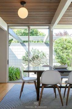 mid-century modern // dining space// San Francisco Eichler