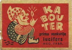Kabouter - vintage matchbox label