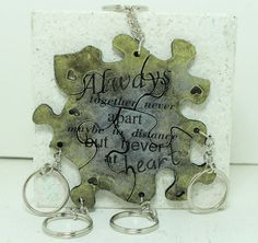 Friendship Set of 5 Best Friend Key chains by GirlwithaFrogTattoo