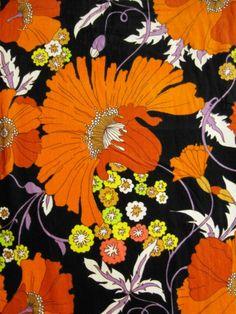 Gorgeous vintage fabric...70er Feinfrottée Vorhang - Bild 1