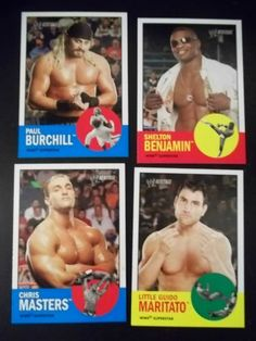 2006 Topps Heritage WWE Series II Lot of 4 # 41, 44, 45, 46