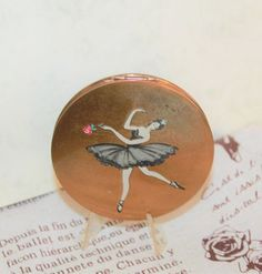 Ballerina in Black Tutu with Rose. By Stratton of Lonon. Black Tutu, Ballet, Compact Mirror, Ballerina, Dancing, Powder, Dreams, Trending Outfits, Rose