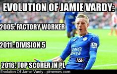 Started from the bottom defined. Take a bow Jamie Vardy Funny Football Memes, Jamie Vardy, Keep Dreaming, Starting From The Bottom, Liverpool Fc, Never Give Up, Premier League, Evolution, Baseball Cards