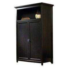 Attrayant Sauder Edge Water Computer Armoire   Estate Black
